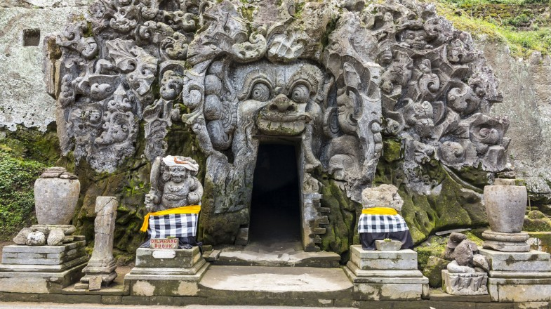 Cave mouth at Goa Gajah temple