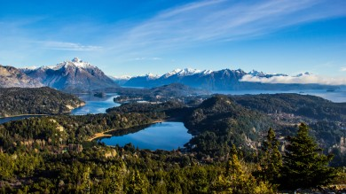 Overlooking Patagonia's gorgeous Lake District, Cerro Campanario stands more than 1,000m above the town of Bariloche in the south of Argentina.