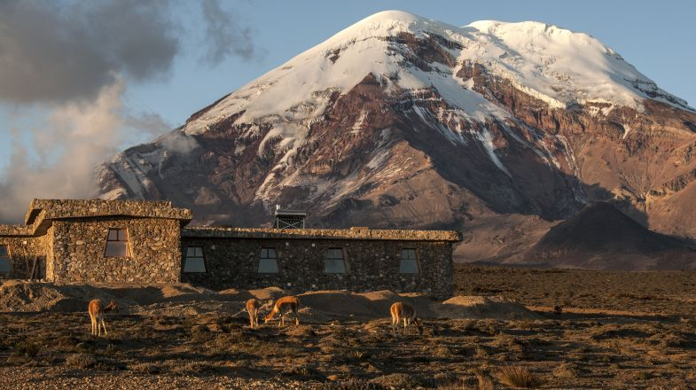Chimborazo, the highest mountain in the Ecuadorian Andes