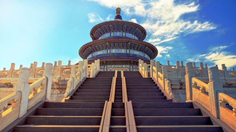 Visit the stairs leading to the Temple of Heaven, Beijing during your 10 days in China