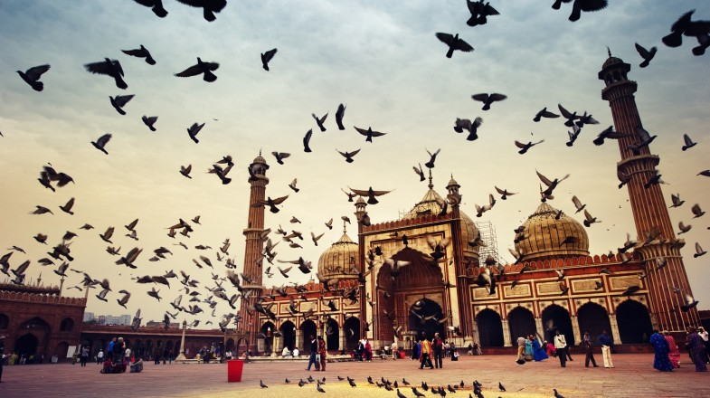 The Jama Masjid is India's largest mosque and definitely a sight to see with its large archways and two tall towers!
