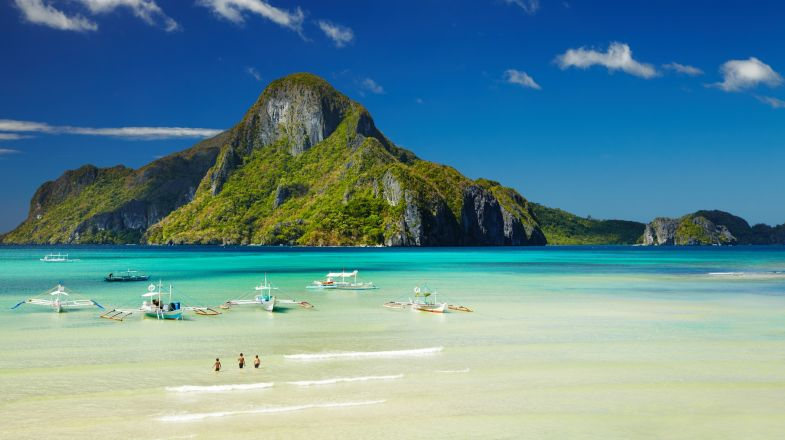 El Nido, a major tourist destination on the Philippines island of Palawan