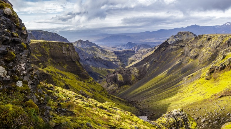 Fimmvorduhals trek is the best known day hike in Iceland