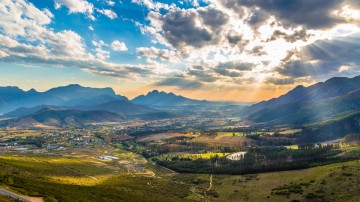 Franschhoek wine valley flaunts some amazing wine farms, listing as one of South Africa's most attractive holiday destinations.