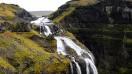 Glymur waterfall is the second highest waterfall in Iceland