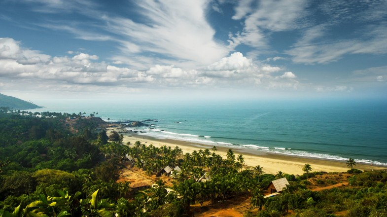 Goa's gorgeous coastline of sandy tropical beaches that stretch dreamily up and down the shores of the Arabian sea.