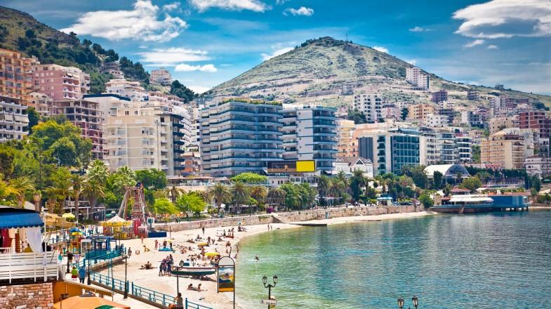 Sunny city of Saranda in Albania