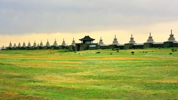 The Karakorum city walls built after the death of Ghengis Khan's death