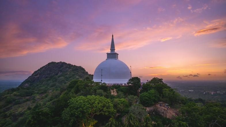 Mihintale at dusk in Anuradhapura