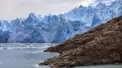 Glacier Grey is located in southern Chile's Patagonia, with the glacier making up part of the extraordinary Southern Patagonian ice field.