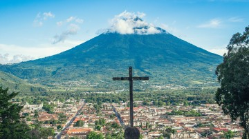 Antigua, a small city in the southern Guatemala, was once the capital city of Guatemala.