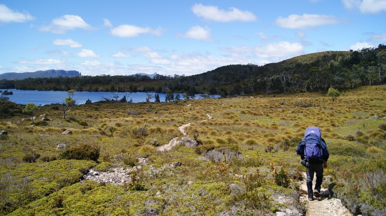 Tasmania is famous for the Overland track that leads to Cradle mountain.