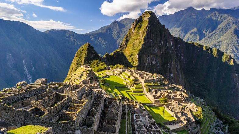Machu Picchu, an ancient Inca city in the Andes of Peru