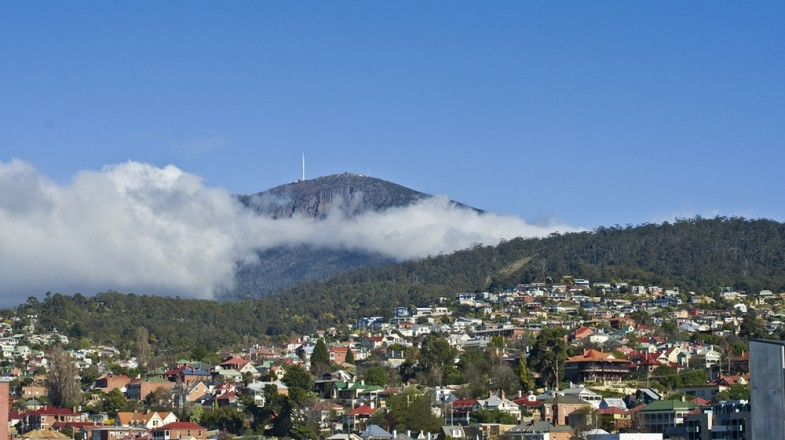 View of Hobart, the capital of State of Tasmania in Australia.