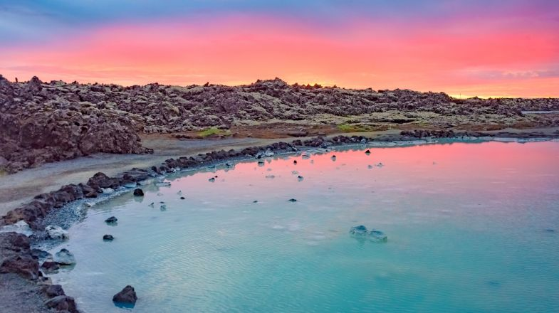 The Blue Lagoon is the most popular hot spring in Iceland