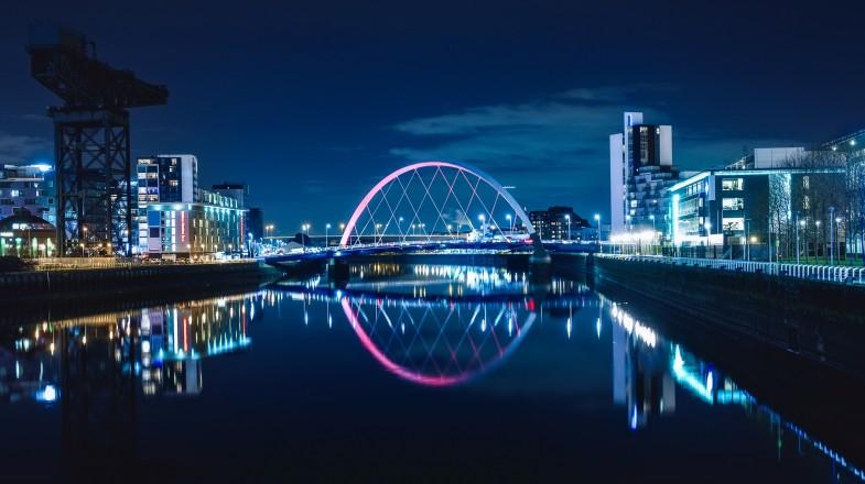 The night sky in Glasgow