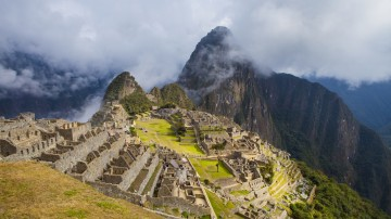 An amazing view of the Machu Picchu from the Huayna Picchu