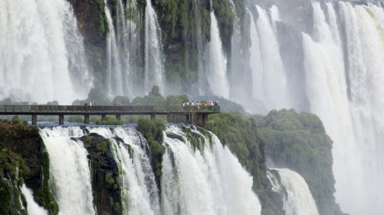 The famous Iguazu falls is a tremendous system of 275 waterfalls that combine to make the biggest of its kind in the world.