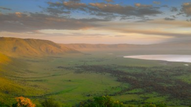 Stunning views of Ngorongoro Crater in Tanzania.