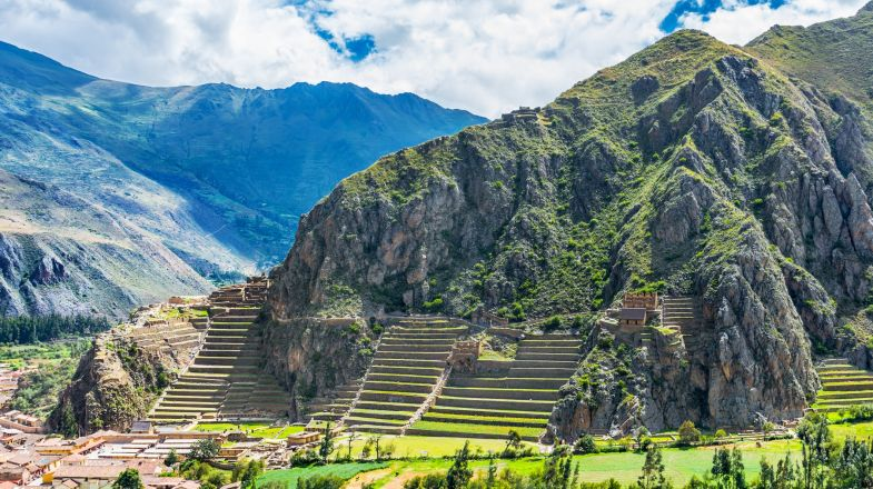 Ollantaytambo is a spectacular Incan city you can visit on the Lares trek