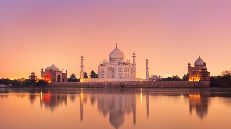 The Taj Mahal is one of the main destinations in a Golden Triangle India tour. Completing the Golden Triangle in India is recommended for those short of time.