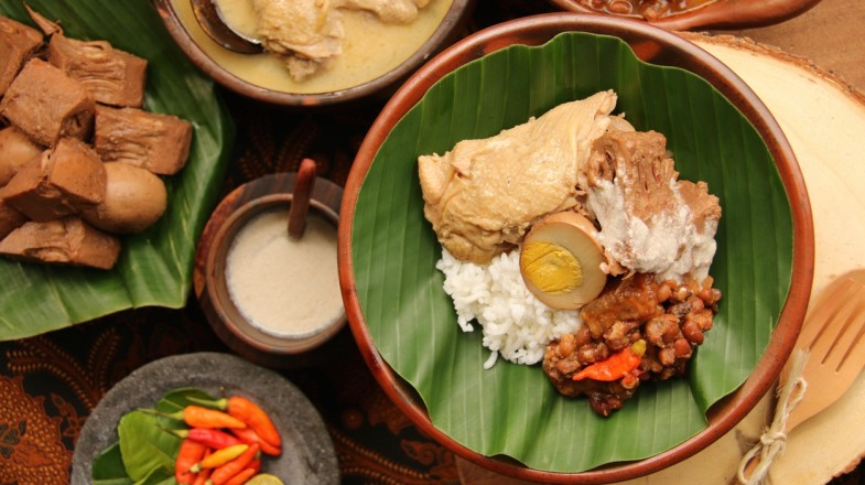 Gudeg is an Indonesia food typically found in Central Java