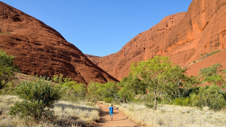 Kata-Tjuta consists of several domed shaped rocks believed to be over 500 million years old.