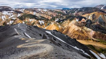 Laugavegur Trail or Landmannalaugar trail is a popular hiking destination for hikers and trekkers.