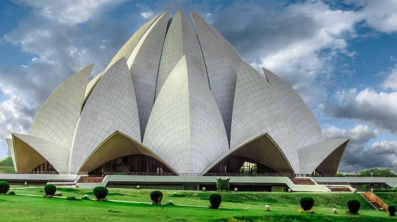 Delhi's Lotus Temple or the Bahai House of worship