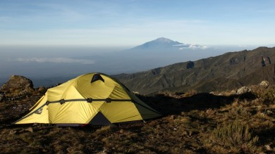 Camp in Machame Route, Kilimanjaro National Park