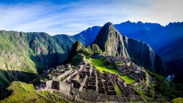 Machu Picchu is the site of an ancient Inca city, high in the Andes of Peru