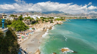 The coastline of Malaga, Spain is known as the Costa del Sol for a reason — this is a place that sees an average of around 300 days of sun per year.