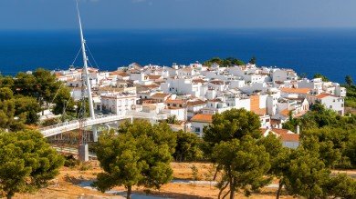 Located on the coast, about 60 km east of Malaga, the sleepy fishing town of Nerja has become a popular destination for holiday-makers on the Costa del Sol.