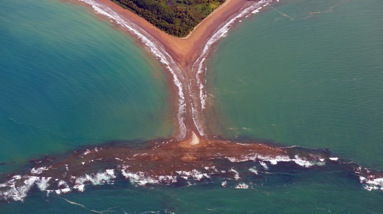Marino Ballena National Park is located in the Pacific Coast of Costa Rica.
