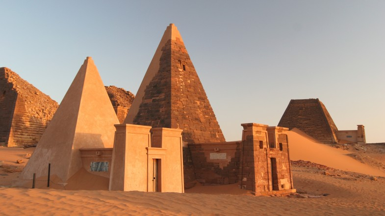 View of Sudan's Meroe Pyramids