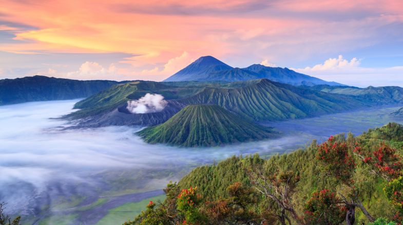 Hike Mount Bromo on a trip to Indonesia.