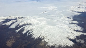 Oraefajokull volcano in Iceland is an active volcano