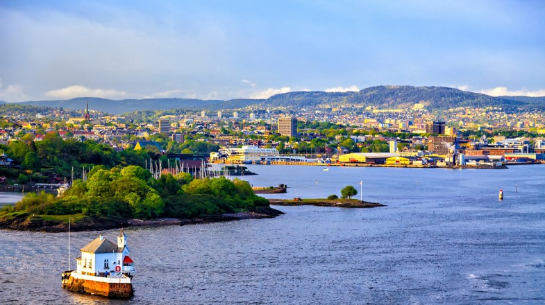 Oslo City, the largest city in Norway