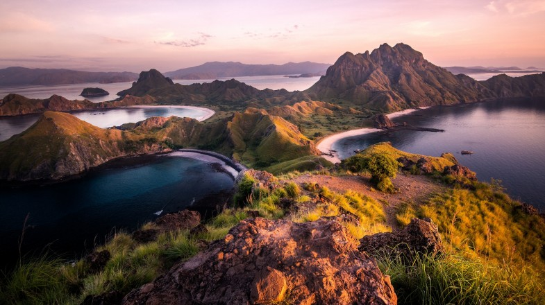 Padar Island, a part of Komodo National Park in Indonesia