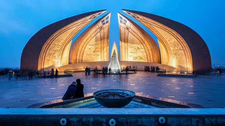 The blooming flower shaped Pakistan Monument Museum