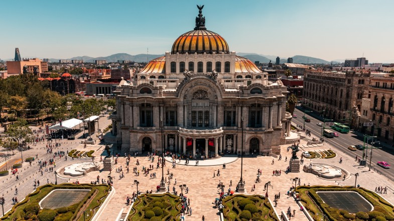 The Palacio de Bellas Artes sit proud in Mexico City and should be on every Mexico itinerary.
