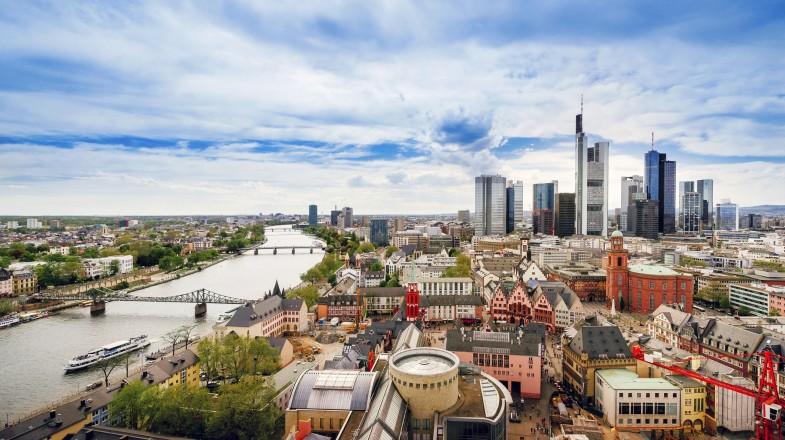 Panoramic view on Frankfurt skyline