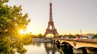 The Eiffel Tower in Paris, France, stands proud as the iconic symbol of French culture and romance.