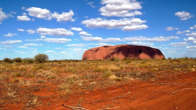 Uluru Rock located in the Red Center is one of the best places to visit in Australia