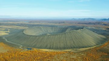 Hverfjall is one of the most popular volcanoes in Iceland.