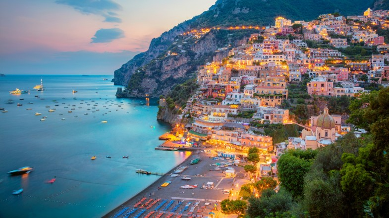 When in the Italy , head to the Amalfi Coast in Campania for the best views of both the quaint villages and the spectacular views of the sea.