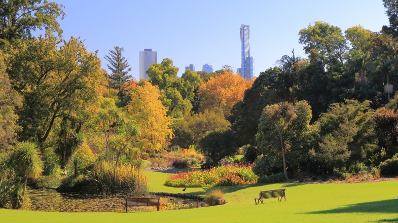 Royal Botanic Gardens in Melbourne, Australia