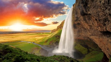 Seljalandsfoss is one of the beautiful waterfalls in Iceland