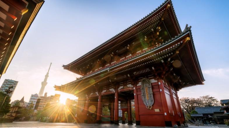 Sensoji, an ancient Buddhist temple located in Asakusa, Tokyo, Japan
