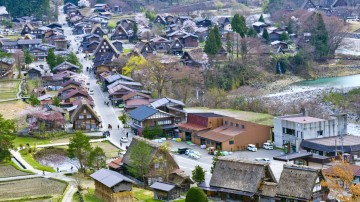 Listed in the World Heritage Site, the village of Shirakawa-go and Gokayama is a mountain well known for their clusters of houses built in architectural style.